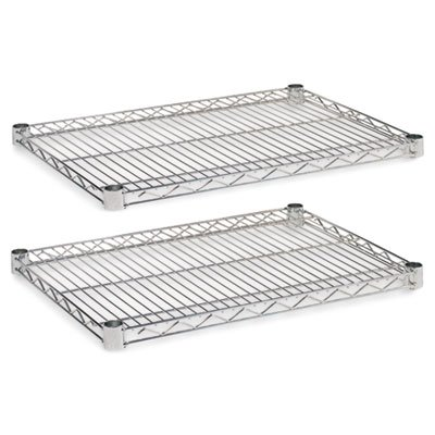 Price comparison product image Alera SW582418SR Industrial Wire Shelving Extra Wire Shelves,  24w x 18d,  Silver,  2 Shelves / Carton