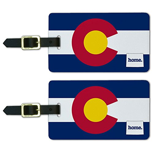 Graphics & More Colorado Co Home State Luggage Suitcase Id Tags-Flag, White