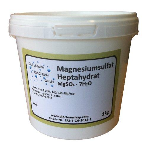 Bittersalz 1kg - Magnesiumsulfat - Epsom - TOP Pharma Qualität - MgSO4·7H2O - 1000g - Ph.Eur