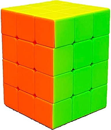 D ETERNAL Rubix Rubix Cube 3x3x4 High Speed Stickerless Cuboid Rubic Magic Cube Puzzle