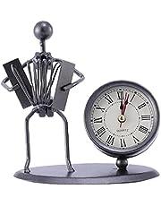 1pc Antique Clock Room Vintage Clock Table Clock Retro Roman Digital Clock Instrumental Performance Desktop Ornaments