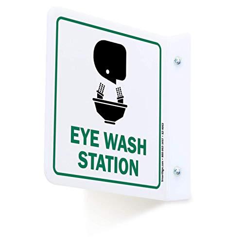 "SmartSign""Eye Wash Station"" Projecting Sign | 6"" x 6"" Acrylic"