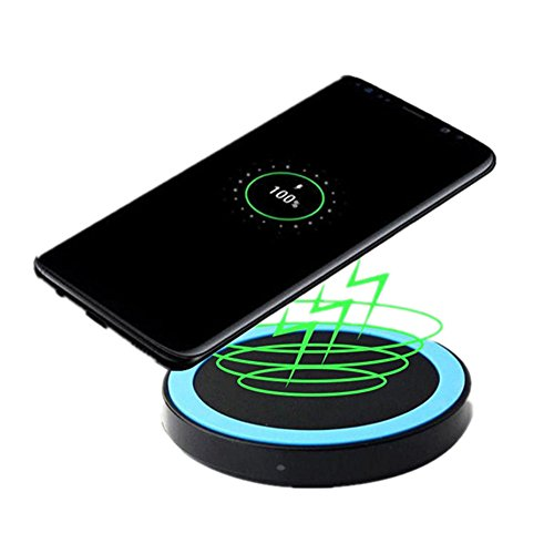 Price comparison product image Kwok Qi Wireless Power Charger Charging Pad For Samsung Galaxy S8/S8 Plus (Blue)