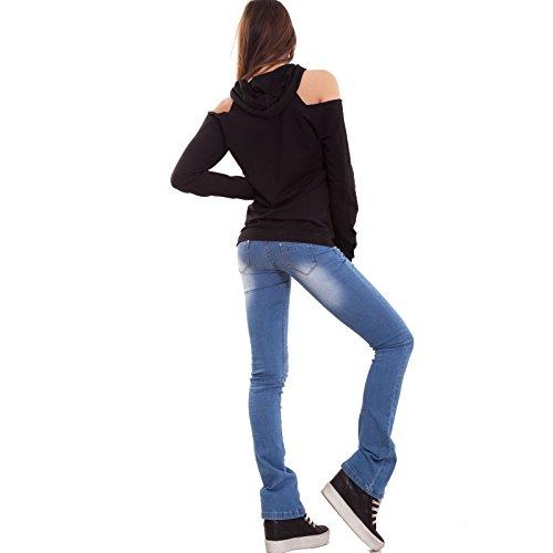 Toocool - Sudadera con capucha - para mujer negro