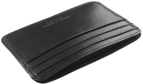 Black Leather Credit Card Holder by Byron and Brown