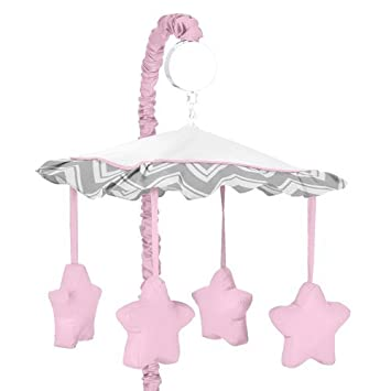 Amazon.com: Sweet diseños Jojo Rosa y Gris Chevron Zig Zag ...