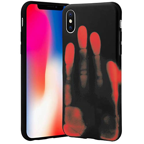 Seternaly Creative Thermal Case for iPhone X iPhone XS (Color Changes from Black To Orange) 5.8 Inch