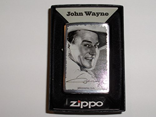 Zippo John Wayne Black and White Picture Lighter