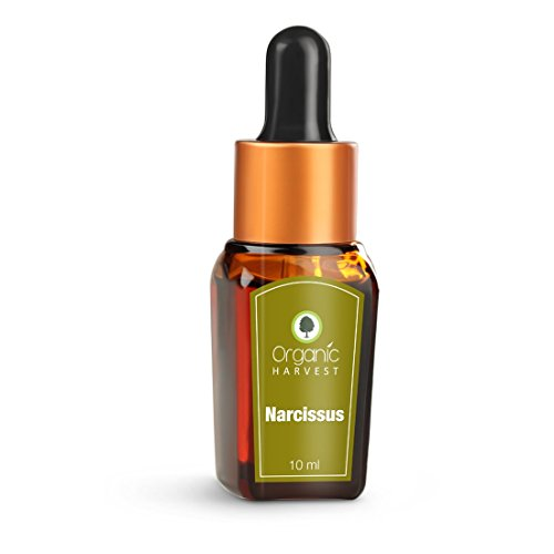 Organic Harvest Herbal Ayurveda Pure Narcissus Essential Oil No harsh chemicals, animal ingredients, parabens, mineral oil, or pesticides (10 ml / 0.338 fl oz)
