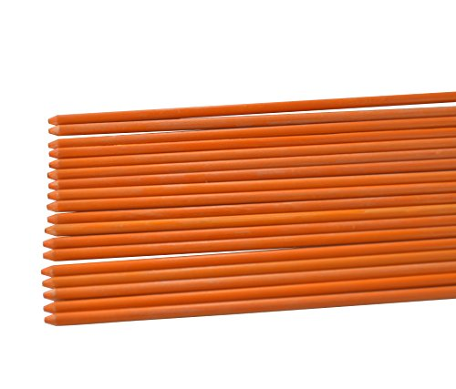 Mr Garden Rust-free Garden Plant Stakes Post for Tomatoes, Trees, Cucumber, Fences, Beans, 5/16'' X 48'', Pack Of 20, Orange by Mr Garden
