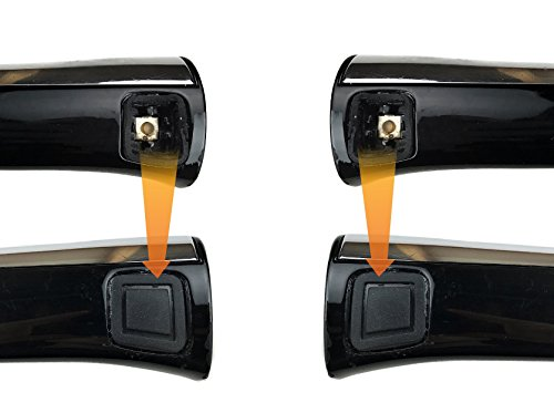 (2x) Door Handle Button Cover for Mercedes-Benz (Left & Right Side) Driver & Passenger Lock Keyless-Go Entry Outer Rubber Square W211 W220 C209 C215 W219 R230 W251 X164 W164 E S R CLK CL CLS SL GL ML
