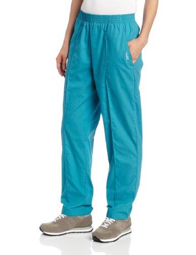 Landau Women's Comfortable 2-Pocket Classic Fit Medical Scrub Pant Uniform, Teal, Large - Pants 2 Pocket