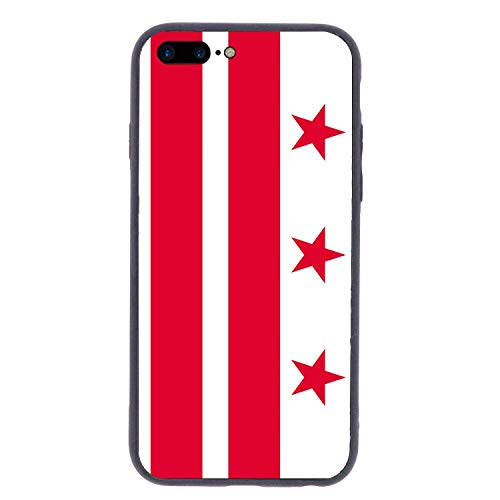 CHUFZSD US Flag of Washington DC iPhone 7/8 Plus Case Soft Flexible TPU Anti Scratch Shock-Proof Protective Shell Compatible Phone Case Cover (5.5 Inch)