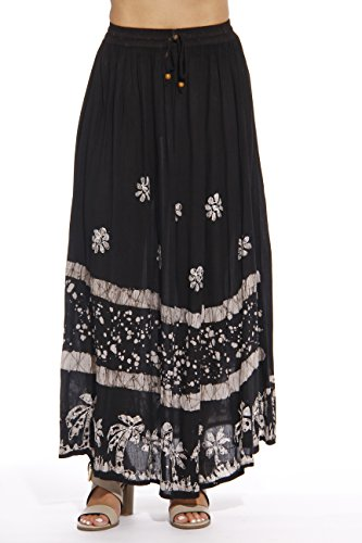 - Riviera Sun Skirts for Women,Black / White,1X