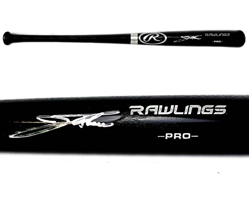 Jim Thome Autographed Baseball Bat - Official Rawlings Black - Autographed MLB Bats ()