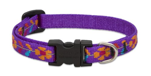 """LupinePet Originals 1/2"""" Spring Fling 8-12"""" Adjustable Collar for Small Dogs"""