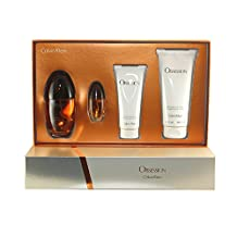 Calvin Klein 4 Piece Obsession Fragrance Gift Set for Women, W-GS-3882