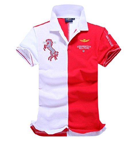 メンズ ポロシャツ 半袖 Tシャツ2018新入荷カジュアル 紳士ポーツゴルフ シャツ ゆったり リラックス 着やすい すぐ着れる らく 気持ち良い