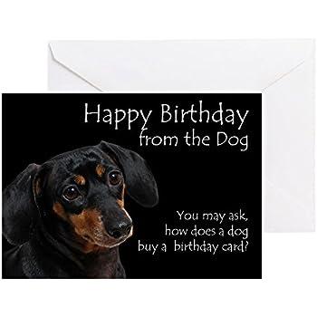 Amazon Cafepress From The Dachshund Birthday Card Greeting
