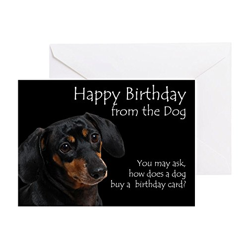 CafePress - From the Dachshund Birthday Card - Greeting Card, Note Card, Birthday Card, Blank Inside Matte
