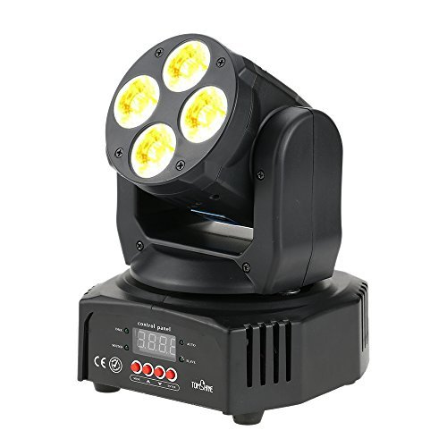 Tomshine DJ Lights 60W Moving Head Lights Stage Lighting Sound Activated Spotlight RGBW+Amber+UV 6-IN-1 for Party KTV Pub Bar Disco Dj Show Wedding Ceremony