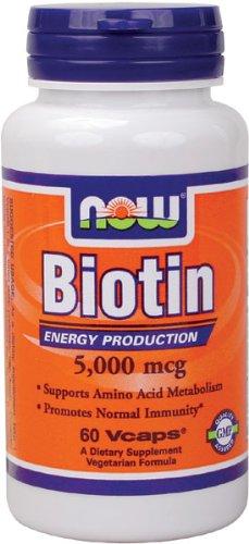 NOW Foods Biotin 5000mcg, 60 Vcaps