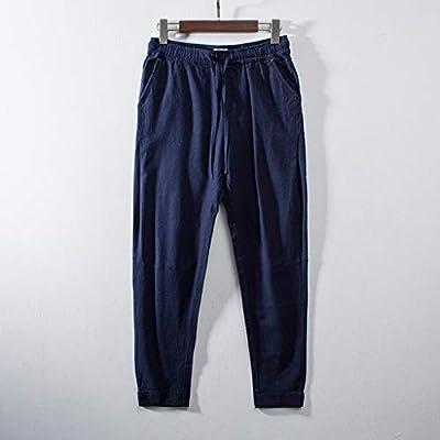 Amazon.com: Mens Casual Loose Cotton Linen Pants Comfort ...