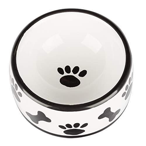 Creature Comforts Round Dish - Medium - Black & White