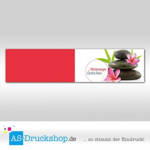 Gutschein Massage - Hot Stone   100 100 100 Stück   DIN Lang B0794YX5YB   Die Farbe ist sehr auffällig  28b154