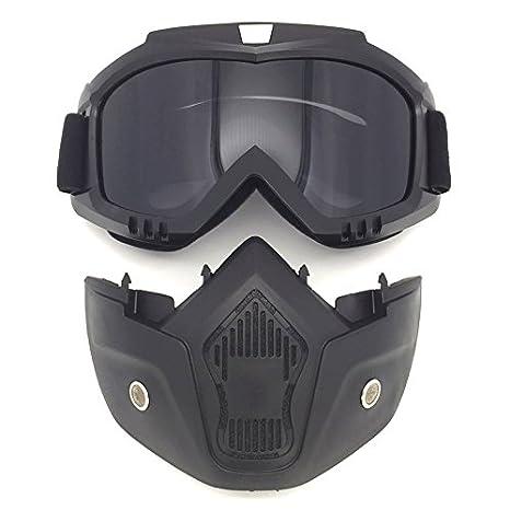 Máscara modular desmontable de Spohife, gafas para moto, gafas de equitación, resistente al viento, protección UV400, White C: Amazon.es: Deportes y aire ...