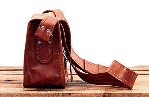 Besace Retro S Paul Vintage taille Cuir Marius cuir signé bandoulière Sacoche qEtO7wT
