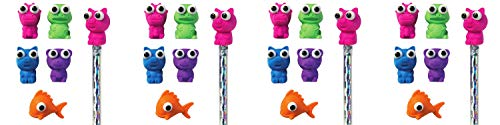 Raymond Geddes Here's Looking at You Eraser Pencil Toppers, Set of 50 (69005) (Fоur Paсk, Assorted) by Raymond Geddes (Image #1)
