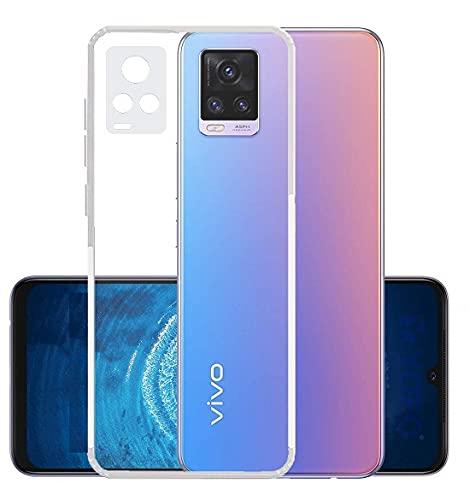 CELZO Transparent Soft Silicon Flexible 4 Side Full Protection Back Cover Case for Vivo V21 (5G) - (Transparent) 2021 July PREMIUM QUALITY PREMIUM LOOK PRECISE SIZE