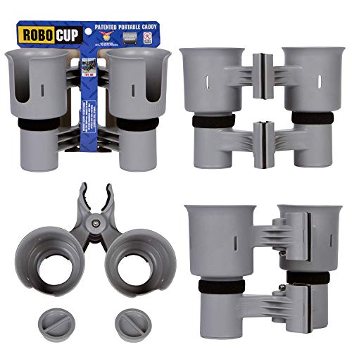 - ROBOCUP Gray, Best Cup Holder for Drinks, Fishing Rod/Pole, Boat, Beach Chair/Golf Cart/Wheelchair/Walker/Drum Sticks/Microphone Stand