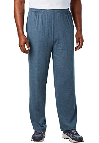 King Fashions Athletic Sweatpants - KingSize Men's Big & Tall Lightweight Open-Bottom Sweats, Heather Slate Blue