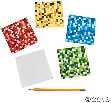 Pixel Digi Notepads 24 ct by Party Supplies