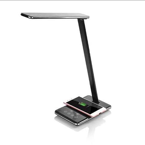 QIAQIA Cargador de batería inalámbrico Lámpara de mesa de ...