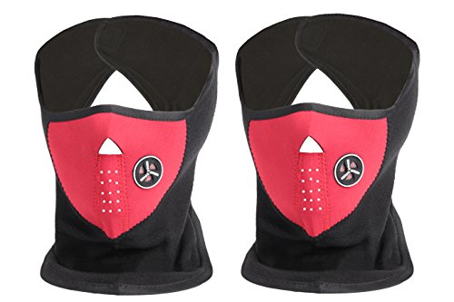 Neoprene Indoor/outdoor Ski Mask-Color Options-2Piece Set (Red) by ETCBUYS