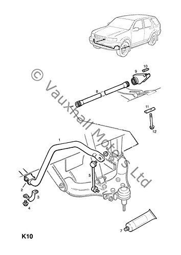 24 mm Original Opel Frontera B Lagerbuchse f/ür Stabilisator vorne Teilenummer 91132004