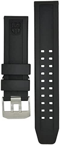 Luminox 3050, 3080, 3150 Strap Replacement Watch Band Black Silicone 23mm