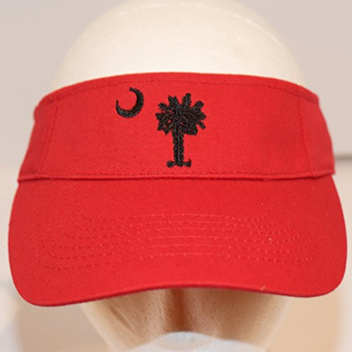 South Carolina Palmetto Tree Gamecock Garnet Visor Cap Hat