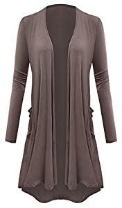 AM CLOTHES Plus Size Cardigan Women Open Front Lightweight High Low Drape Cardigan