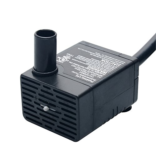 peaktop-106-gph-submersible-water-pump-with-6-cord-for-aquarium-fountain-replacement-statuary-hydrop