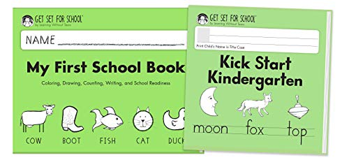 Learning Without Tears - Transition to Kindergarten Student Workbook Set, Current Edition - Includes My First School Book & Kick Start Kindergarten Minibook - Pre-K Writing - for School or Home Use