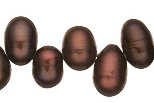 Spectrum Purple Freshwater Cultured Pearls Natural Potato, A Graded, 4x6mm (Approx.), 15.5Inch Strings/93Pearls ()