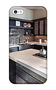 Durable Defender Case For Iphone 5/5s Tpu Cover(cooktop On Oversized Island In Industrial Kitchen)