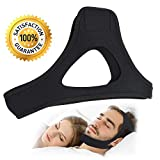 Anti Snoring Chin Straps-Adjustable Comfortable Stop Snoring Devices-Sleep Aid Snore Stopper Solution-Relief Anti-snore Headband Jaw Belt with Magicfor Ease Breathing for Men and Women (Black) (Black)