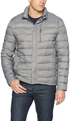 Kenneth Cole New York Mens Packable Jacket with Chest Zipper