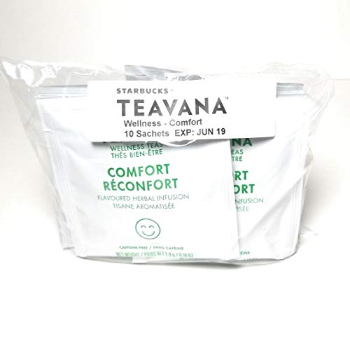 - Teavana Wellness Comfort Herbal Infusion Tea Sachets