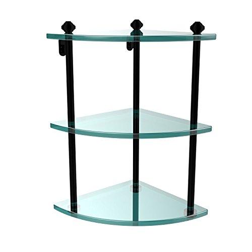 Review Allied Brass SB-6-PC Triple Corner Glass Shelf Satin Nickel By Allied Brass by Allied Brass